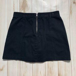 Fashion Nova Skirts - Black Tie Up & Zipper Mini Skirt